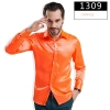 color 9fashion casual Imitation silk men shirt