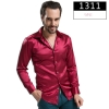 color 10fashion casual Imitation silk men shirt