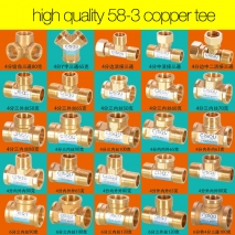 manufacturer supplier 38-5 copper pipe fittings elbow tee