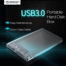hot sale Transparent USB 3.0 portable hard drive box