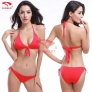 simple candy color women bikini swimwear