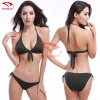 color 7simple color women water play bikini swimwear