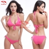 color 8simple cheap women red color bikini swimwear