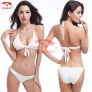 simple color women water play bikini swimwear