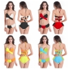 fashion eye-catching patchwork sexy women bikini swimwear