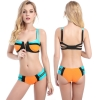 hot sale candy patchwork women bikini swimear