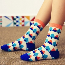 pure cotton small house knitted women socks