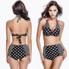 fashion Europe dot print women two-piece swimwear swimsuit
