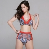 color 3sexy Europe design two-piece women swimwear swimsuit