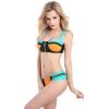 fashion zipper  patchwork women bikini swimear