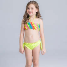 wave colorful water game girl swimwear