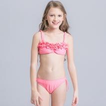 upgrade cloth flowers girl swimwear bikini