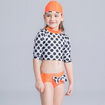cute dot giraffe design girl swimwear