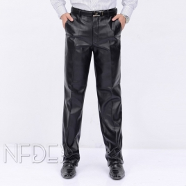 casual high quality straight-leg men's pant trousers