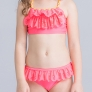 watermelon color girl swimwear two-piece set