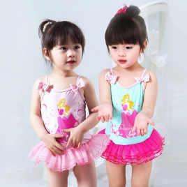 cartoon girl print swimwear