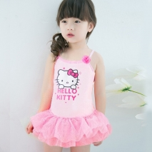 lovely hello kitty little girl bikini one piece swimwear