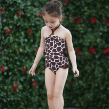 beach giraffe quick drying teen girl swimwear