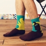 2015 spring horse print cotton men's socks women sock