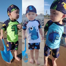 cartoon dinosaur boy swimsuit swimwear