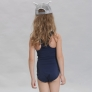 one-piece bare back bikini swimwear