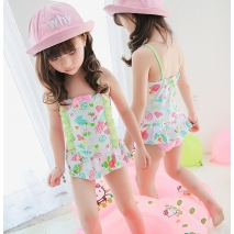 candy printing cute little girl one piece swimwear