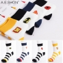 2015 brand street fashion casual  cotton wide stipes icon men's socks