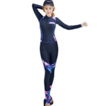 fashion floral printing wetsuit swimwear for women