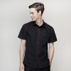 men short sleeve black shirt
