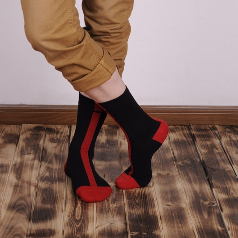 cotton perpendicular stripe outdoor style socks
