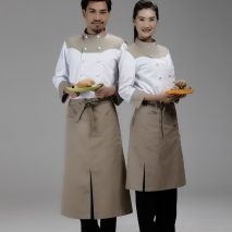 split mid length apron waiter chef apron chef apron