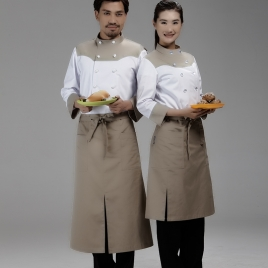 dual split half length apron waiter chef apron