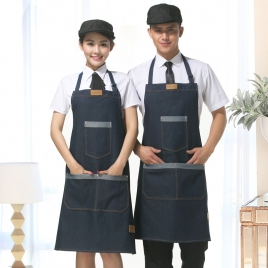 America denim pocket apron for chef waiter