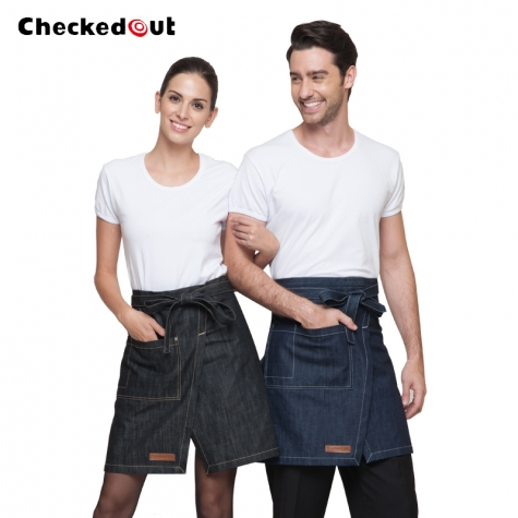 upgraded halter/split denim kitchen chef apron
