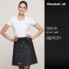 black split denim apron