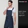 blue halter denim apronupgraded halter/split denim kitchen chef apron