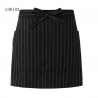 black(stripes) apron