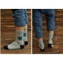 block conjoin grid of jacquard cotton man sock