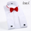 fashion bow folded men shirt uniform