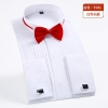 color 1fashion bow folded men shirt uniform