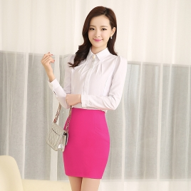Korea fashion design  lady shirt work shirt