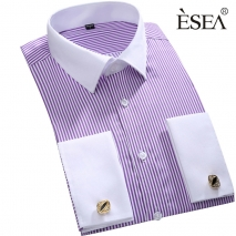 fashion stripes print men shirt  uniform