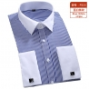 color 11fashion stripes print men shirt  uniform