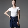 navy stripes short apron