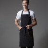 black stripes long apronhalf/halter stripes high quality chef waiter apron