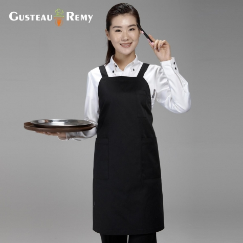 Korea Long pattern family chef apron