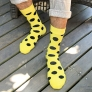 fashion large round dot print men cotton socks