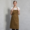 long coffee halter apron