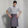 unisex grey apron1/2 length restaurant bread shop baker  chef apron
