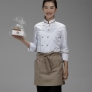 solid color unisex design short apron for waiter chef